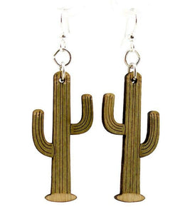 Cactus Earrings - Altered Apparel Boutique
