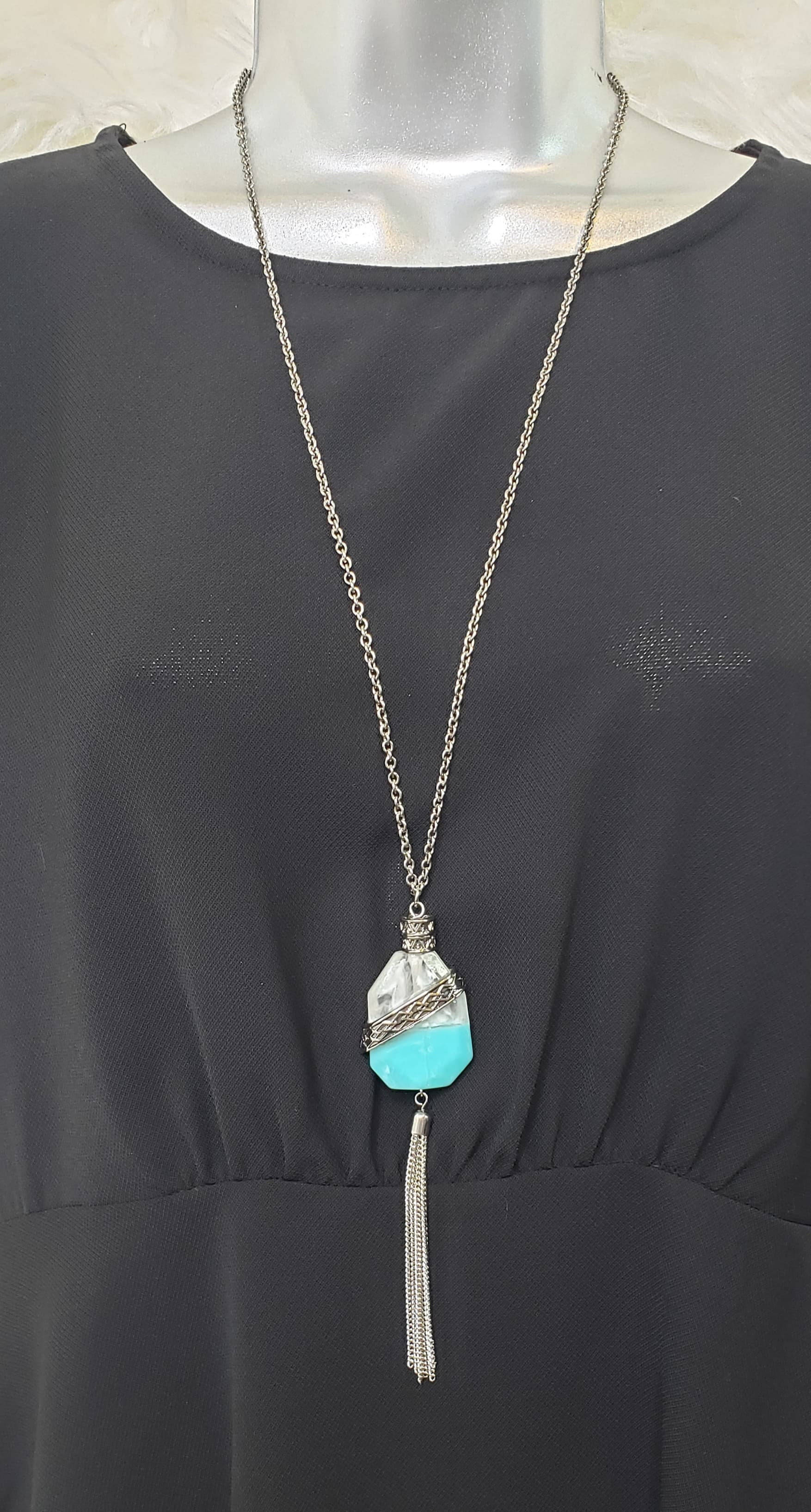 Turquoise Gem Necklace - Altered Apparel Boutique