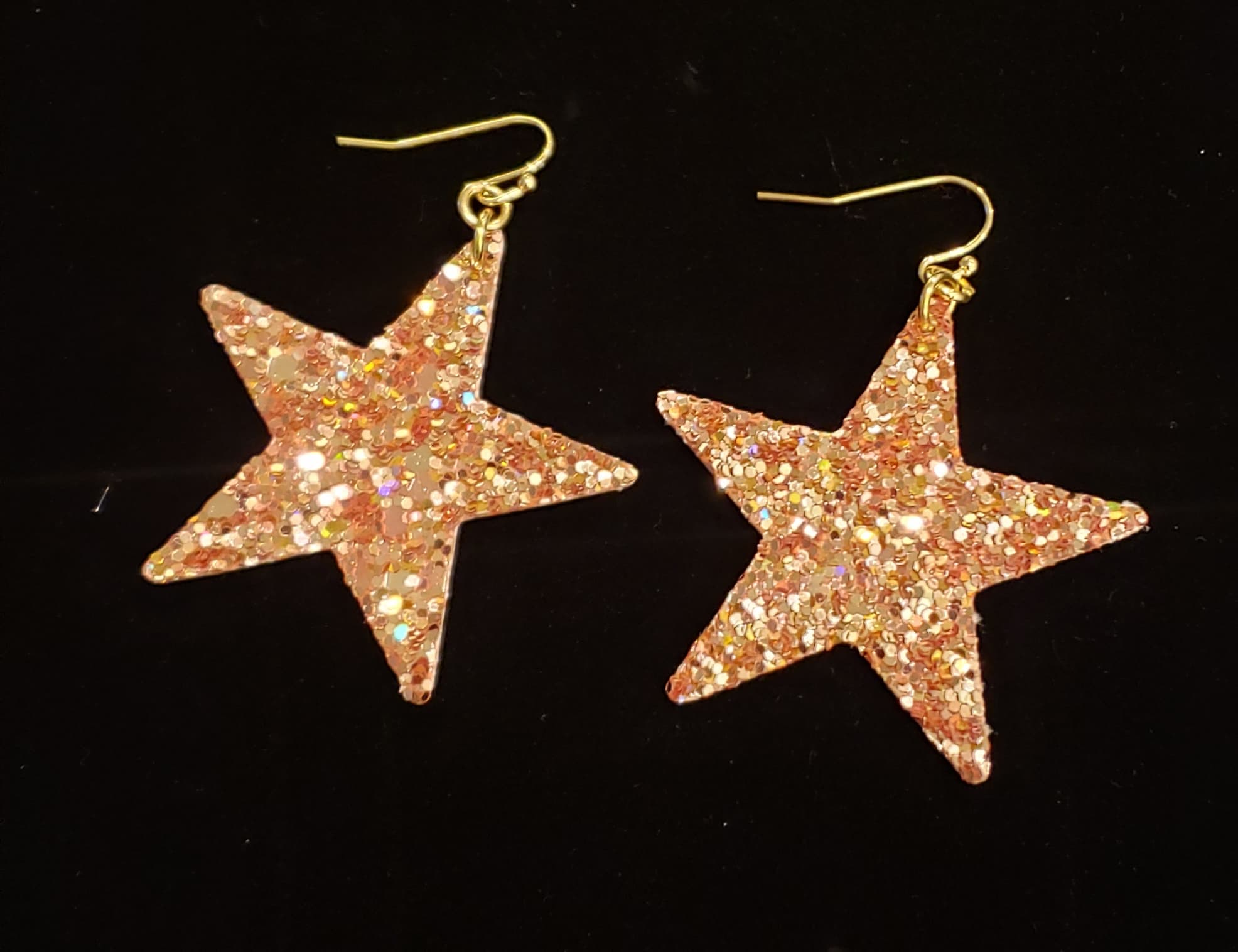 Glitter Star Earrings - Altered Apparel Boutique