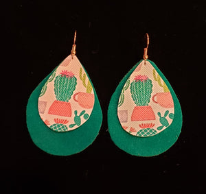 Cactus Dangle Earrings - Altered Apparel Boutique