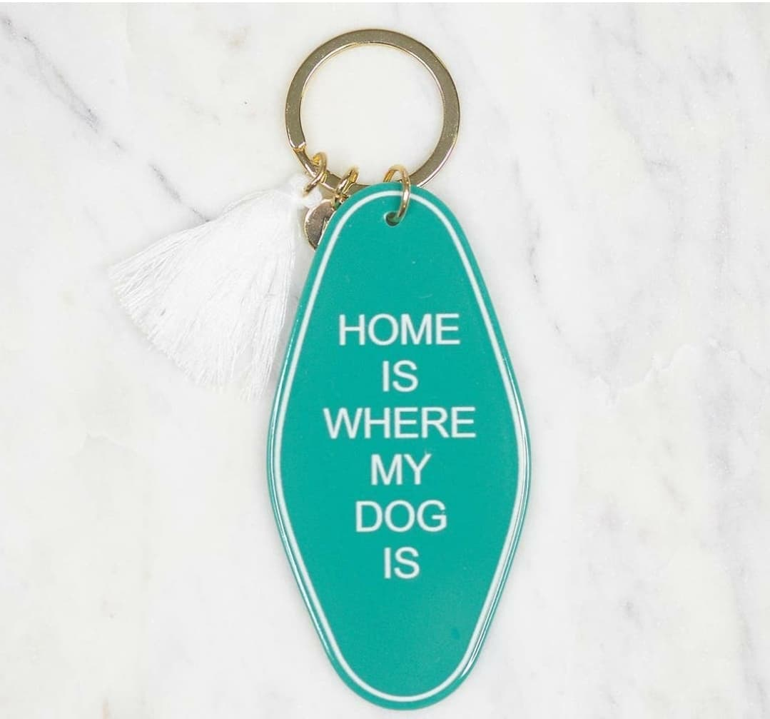 Home Dog Keychain - Altered Apparel Boutique