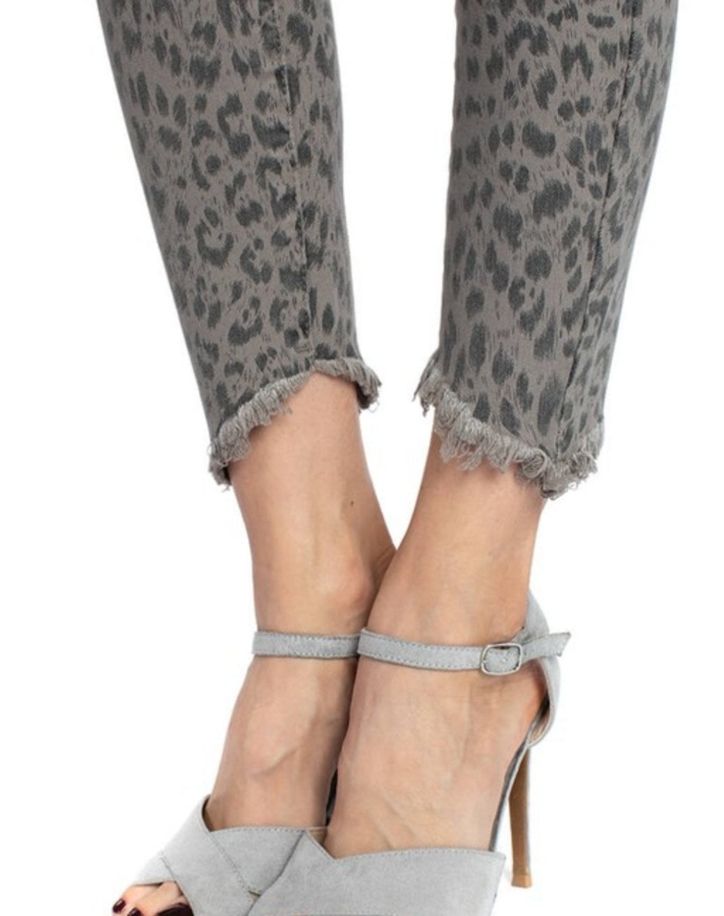 Kancan Leopard Print Jeans - Altered Apparel Boutique