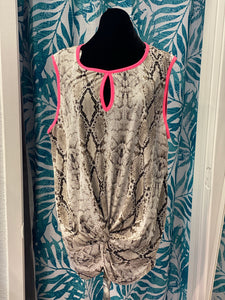 Tempted Snake Print Sleeveless Top