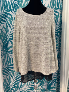 Cream Sparkle Top - Altered Apparel Boutique