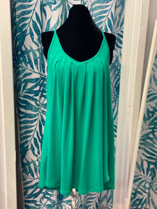 Ruched Tank - Green