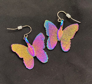 Butterfly Earrings - Iridescent