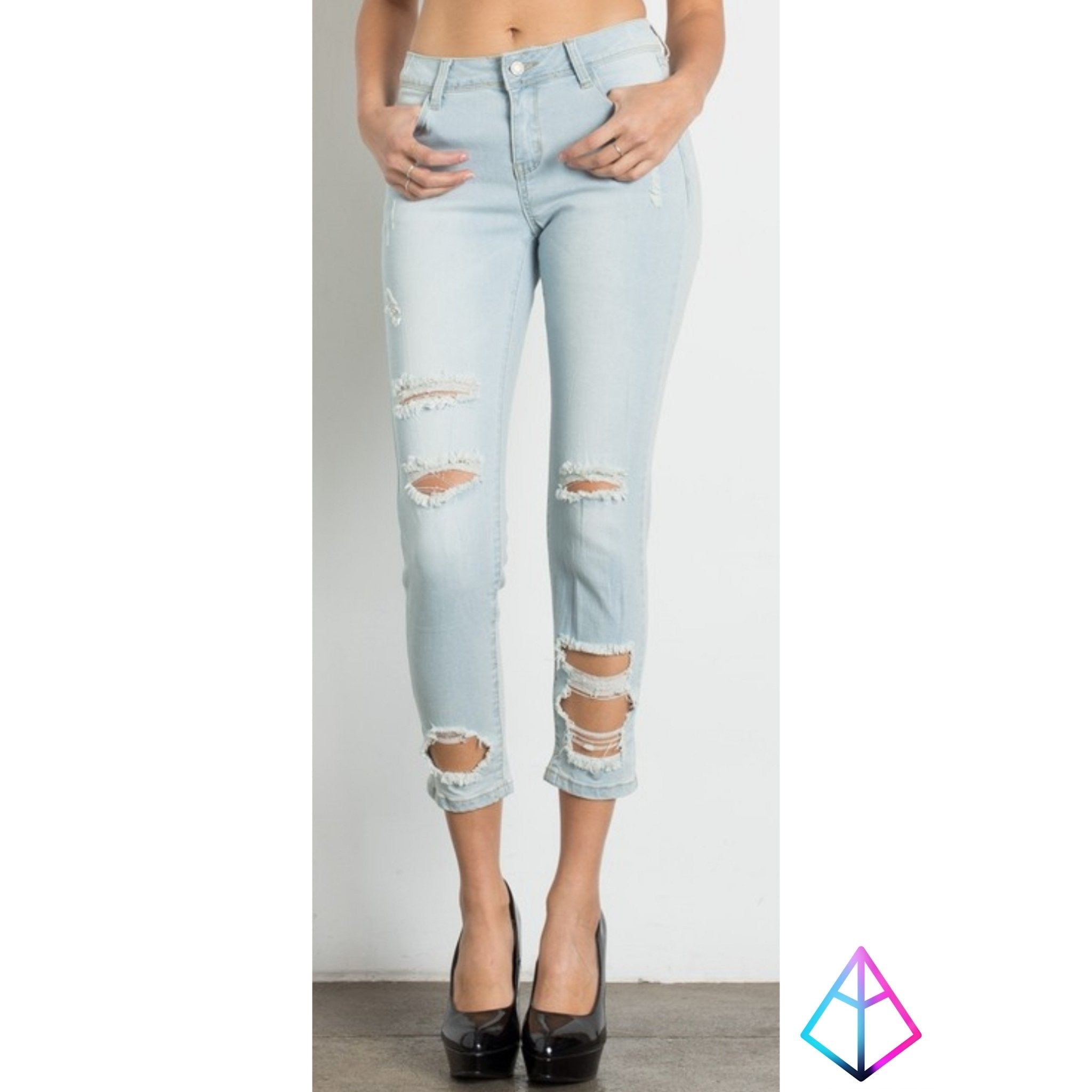Light Blue Jeans - Altered Apparel Boutique