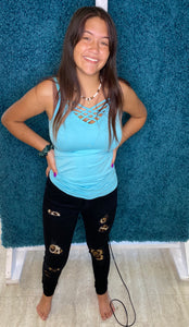 Judy Blue Black Cheetah Denim Jeans