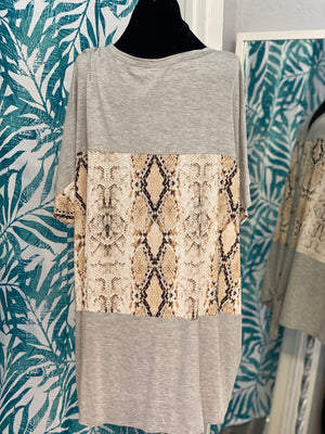Kenzie Snake Print Top - Altered Apparel Boutique