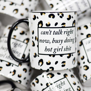 Can't Talk Right Now Mug