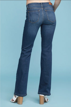 Catherine Mid Rise Bootcut Dark Denim Jeans - Altered Apparel Boutique