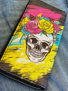 Day of the Dead Wallet - Black