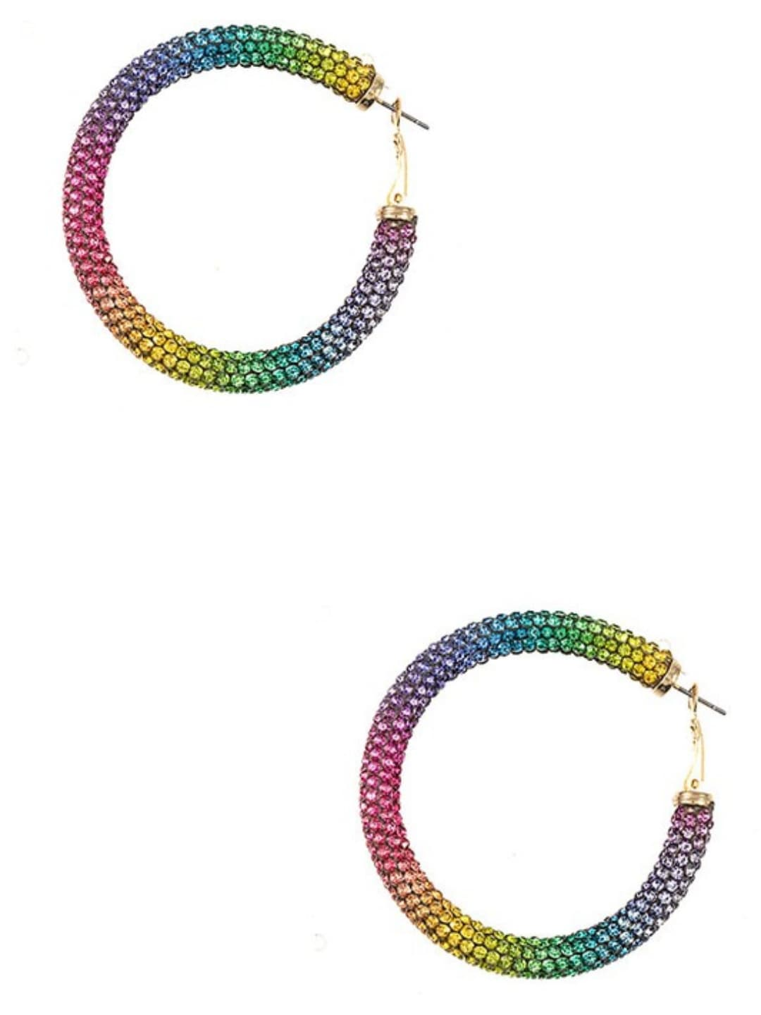 Rainbow Hoop Earrings - Altered Apparel Boutique