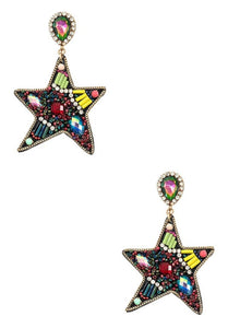 Amber Star Earrings - Altered Apparel Boutique