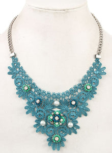 Turquoise Lace Necklace - Altered Apparel Boutique