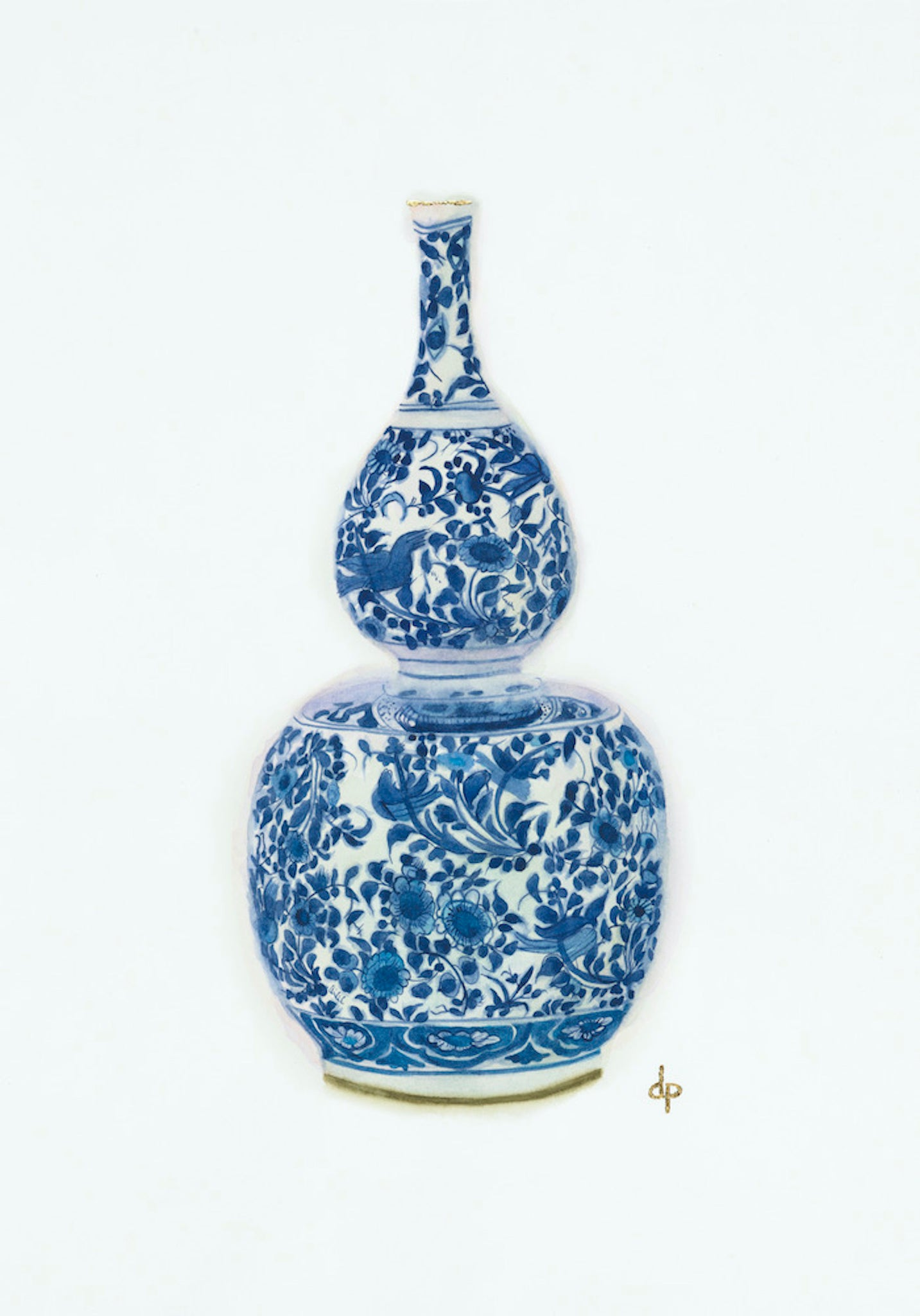 Blue and White Double-Gourd Vase