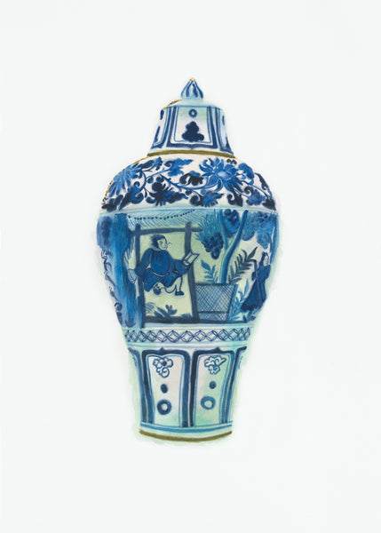 Covered Meiping-shaped Jar with Theatrical Figures