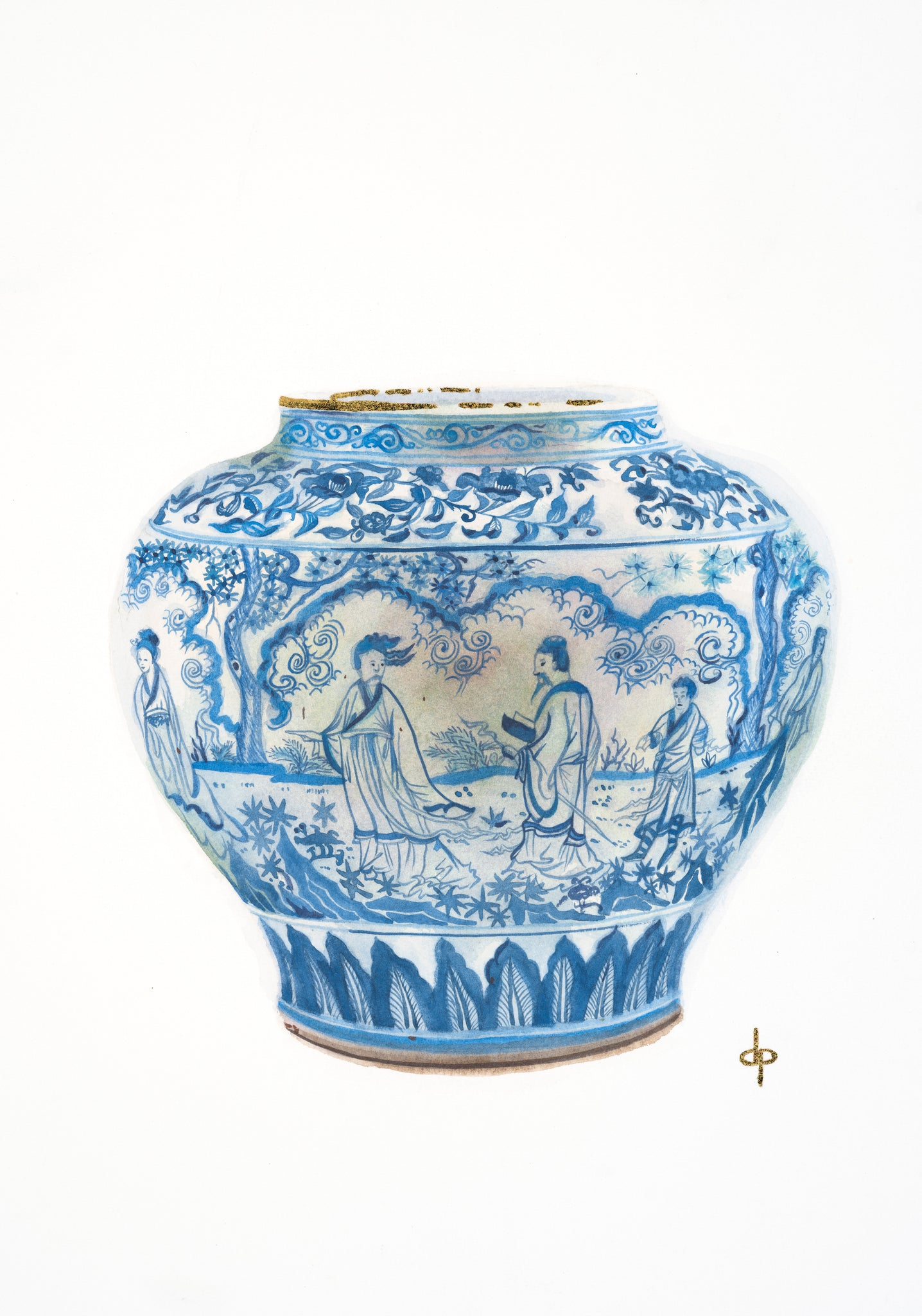 Jingdezhen Wine Jar from Collection of the Victoria and Albert Museum
