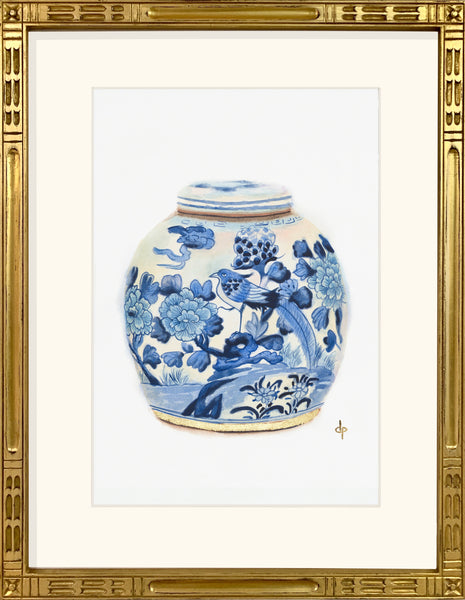 Ginger Jar with Bird And Flowers