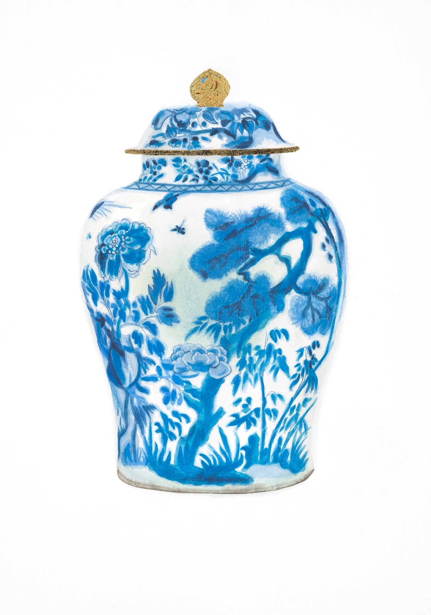 Blue and White Chinese Export Porcelain, Qing Dynasty