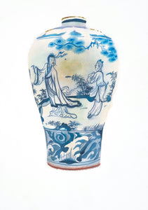 Meiping-shaped Bottle with Figures and Landscape