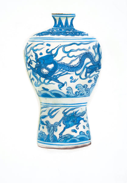 Meiping Shaped Jar with Dragon and Horse
