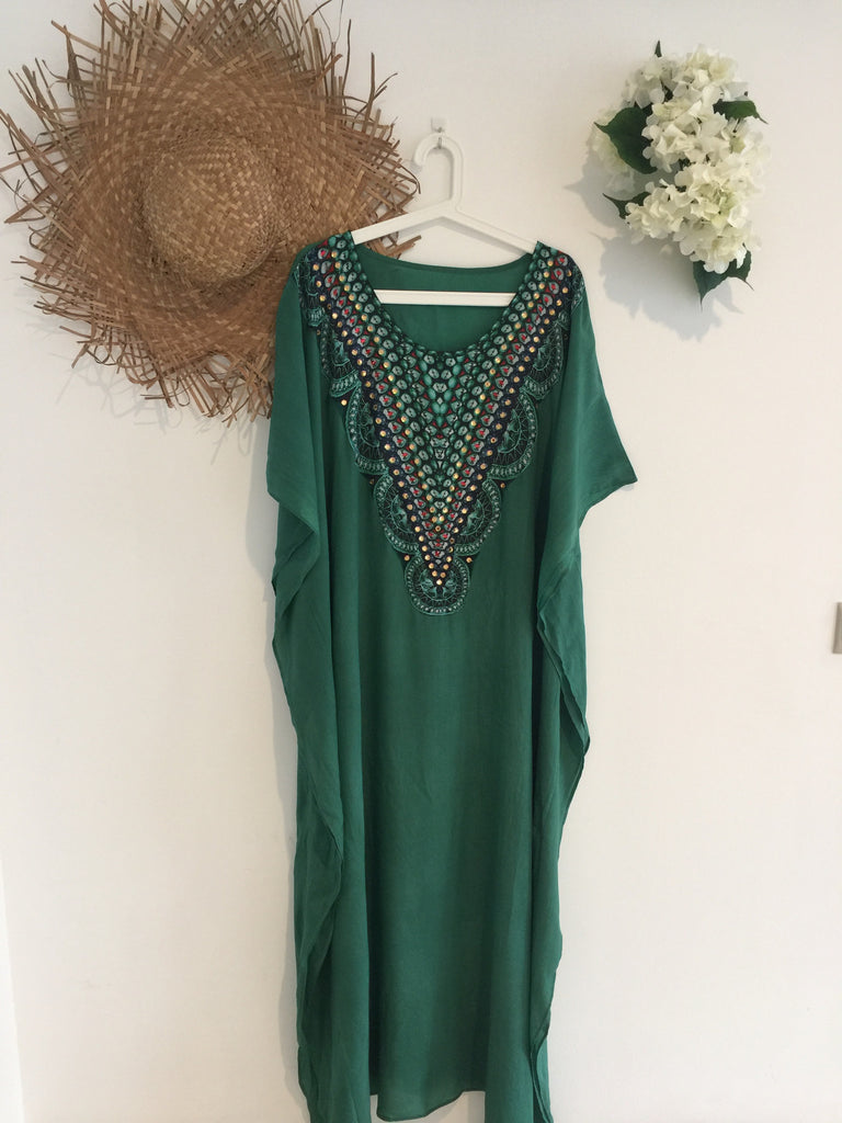 Emerald Kaftan Long
