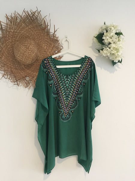 Emerald Kaftan Short