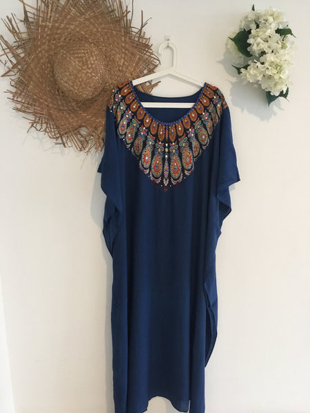 Navy Kaftan Long