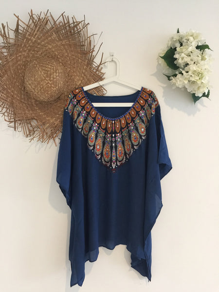 Navy Kaftan Short