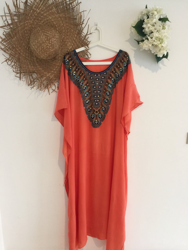 Peach Kaftan Long