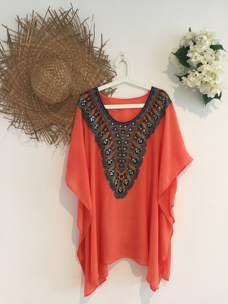 Peach Kaftan Short
