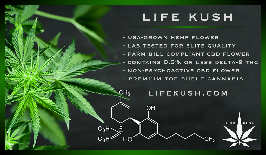 Life kush cannabis CBD products