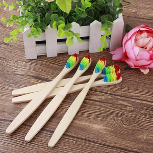 10 Bamboo Toothbrushes | Soft Fibre | Adult & Kids | Biodegradable - ECOcharming.com