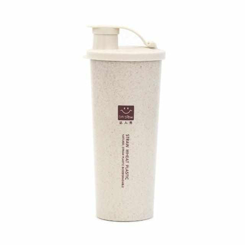 15 fl oz / 450ml Protein Powder Shaker | Water Bottle | Wheat Straw - ECOcharming.com