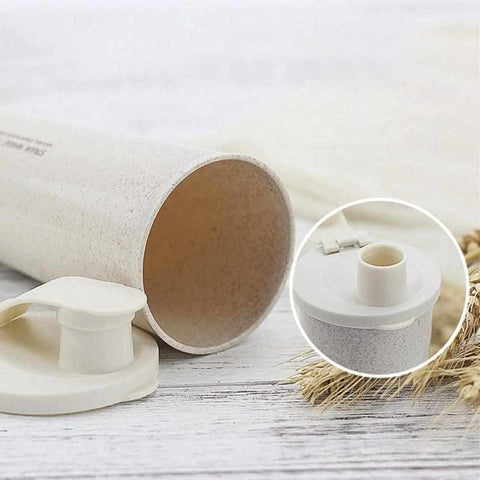 Image of 15 fl oz / 450ml Protein Powder Shaker | Water Bottle | Wheat Straw - ECOcharming.com