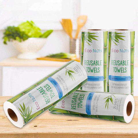 Image of 25 x Reusable Bamboo Kitchen Towels - ECOcharming.com
