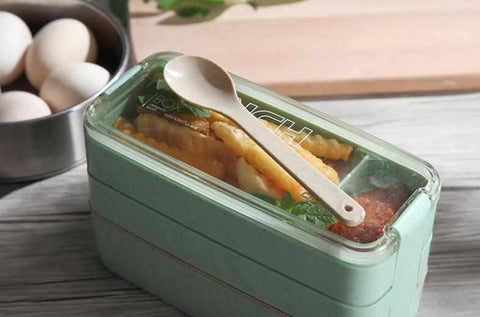 Image of 30 fl oz / 900ml Portable 3 Layer Lunch Box | Microwave safe - ECOcharming.com