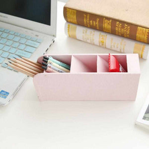 4 Grid Desk Organizer | Wheat Straw - ECOcharming.com