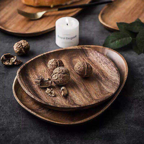 Acacia Wood Trays & Plates | Various Sizes & Sets - ECOcharming.com