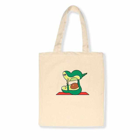 Image of Avocado Canvas Tote Bag | 3 colors x 3 designs - ECOcharming.com