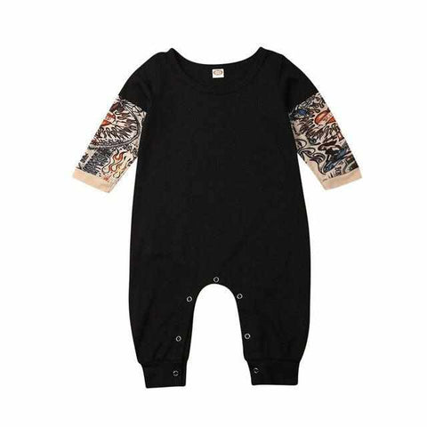 Image of Baby Tattoo Sleeve Romper | Onesie | Playsuit | Body - ECOcharming.com