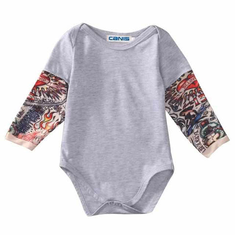 Baby Tattoo Sleeve Romper | Onesie | Playsuit | Body - ECOcharming.com