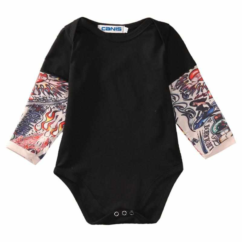 Watercolor Tattoo Eagle Baby Bodysuit Infant Creeper