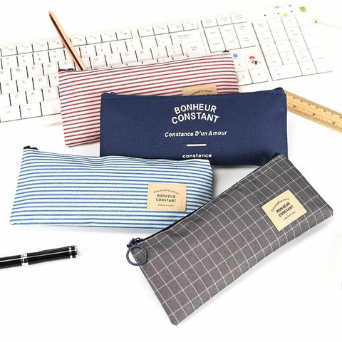 Image of Canvas Pencil Case / Accessory Pouch - ECOcharming.com