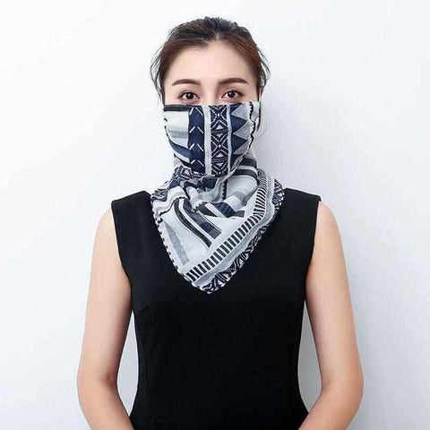 Image of Face Mask Cover | Chiffon Scarf | 2020 Collection - ECOcharming.com