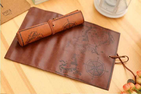 Image of Luxury Retro Leather Pencil / Makeup Case Pouch - ECOcharming.com