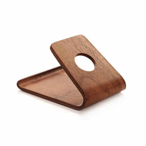 Real wood phone stand | Walnut or Birch - ECOcharming.com