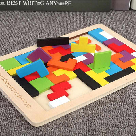 Image of Tetris Wood Puzzle | Tangram Game | Educational Toy - ECOcharming.com