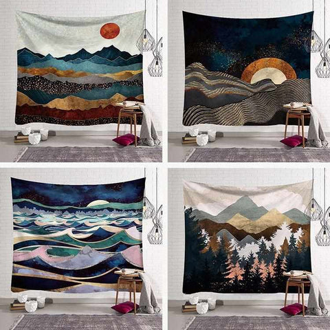 Image of Wall Hanging Tapestry | Beautiful Landscapes | Various Motifs & Sizes - ECOcharming.com